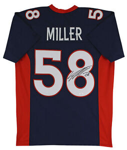Details about Von Miller Authentic Signed Navy Blue Pro Style Jersey Autographed JSA Witness