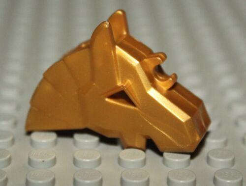 Lego Castle Pearl Gold Horse Helmet Angular NEW
