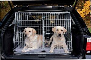 Trasportino Gabbia Per Cani Cane Bagagliaio Auto Doppio Pieghevole