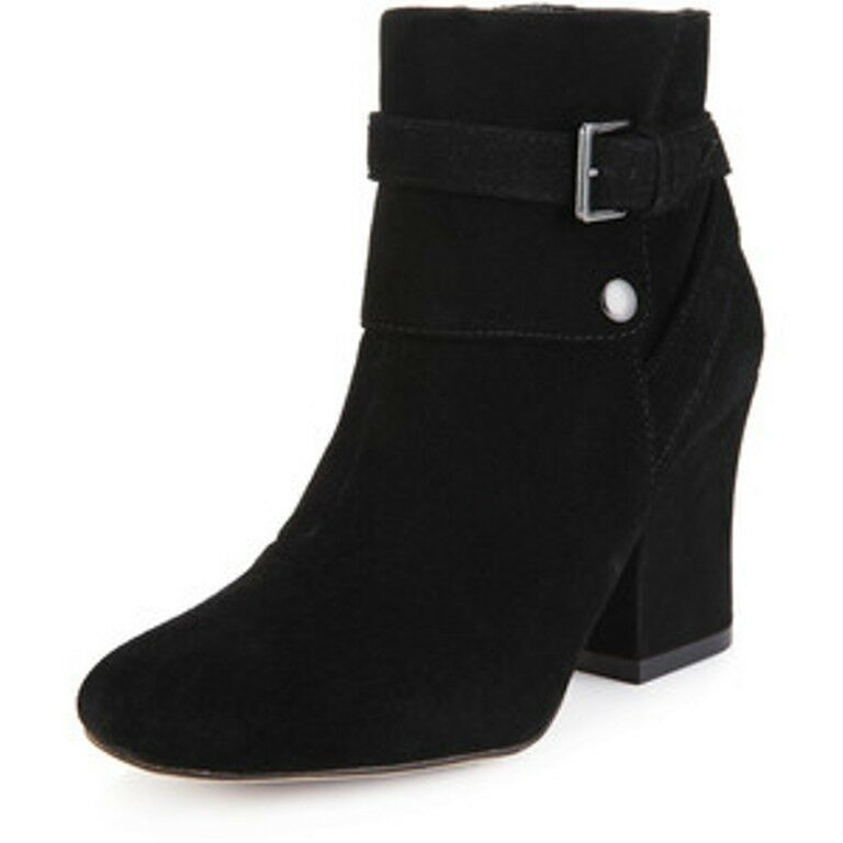 M&S Collection Women's Real Suede Black Colour Boots Size UK4/EUR37 NEW