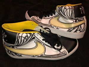 16e8aa9f349 Nike Blazer High Tops Premium Grafitti Graphic Mens Shoes Size 10.5 ...