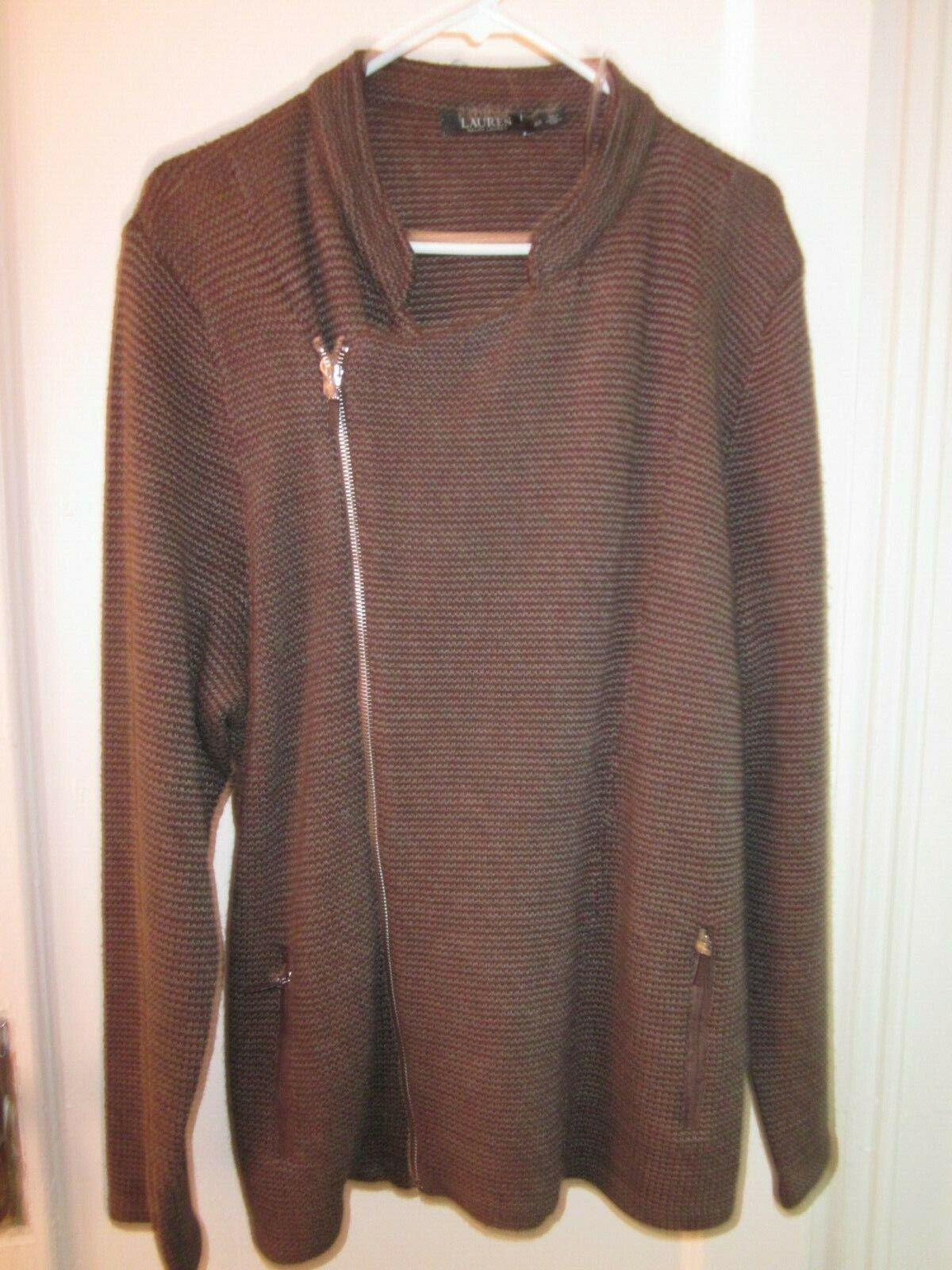 LAUREN Ralph Lauren s kvinnotröja 3X full zip