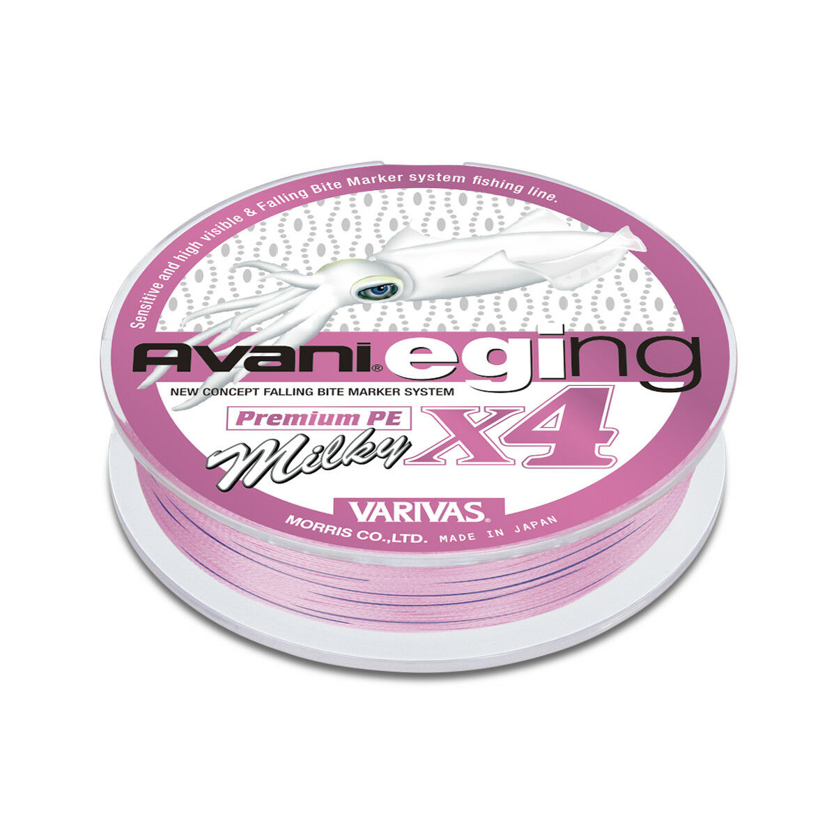 VARIVAS Avani Eging Premium PE X4 Milky 150m 4Braid Line for Squid Eging Fishing
