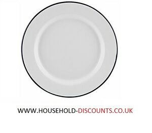 Image is loading Set-of-12-Falcon-Enamel-Tin-Plate-Dinner-  sc 1 st  eBay & Set of 12 - Falcon Enamel Tin Plate Dinner Plates Metal Camping 24cm ...
