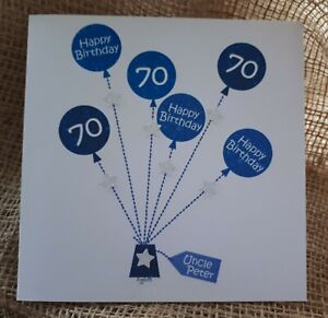 Details About Personalised Handmade Birthday Card 60th 70th Any Age Balloons Dad Uncle Grandad