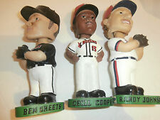 3 Indians Bobbleheads Ben Sheets Cecil Cooper Randy Johnson In Uniform