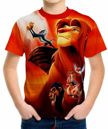 Lion King Boys Kid Youth T-Shirt Tee Age 3-13 New