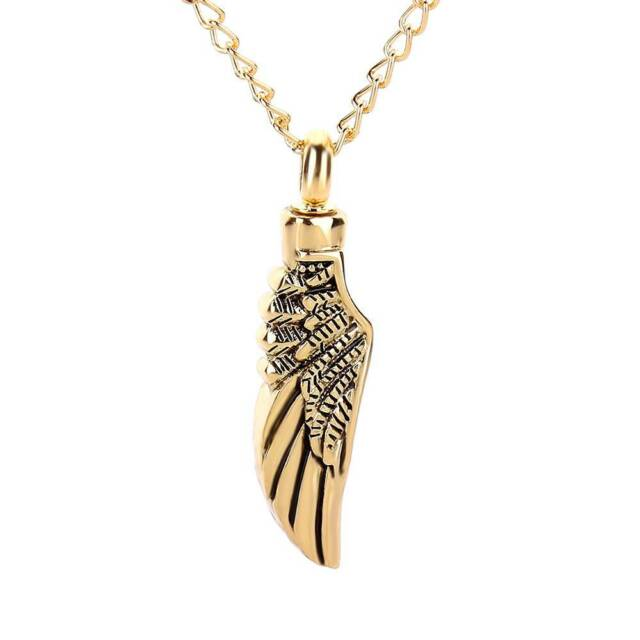 Angel Wing Pendant Necklace for Women Men Cremation Ashes Urn Keepsake Jewelry c