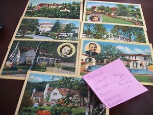 Vintage Bel-Air, Encino, Santa Monica Star Postcards Postcard Lot (7)