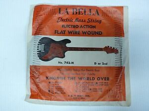 labella vintage bass guitar string single 2nd d new old stock ebay. Black Bedroom Furniture Sets. Home Design Ideas
