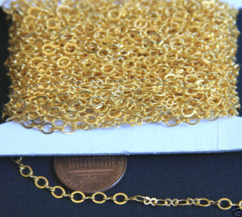 10 ft Gold Plated Figure 8 Connector Chain 2.5X3.1mm