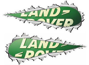 Torn Metal Land Rover Logo Decals Pair 100mm Wide For Land Rover 4x4 Off Road Ebay