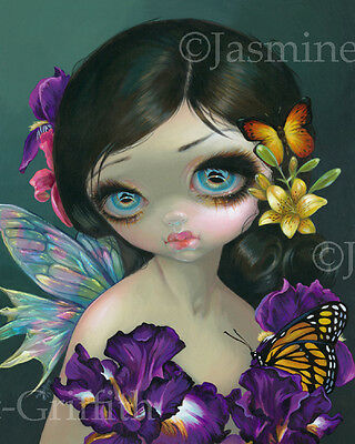 Jasmine Becket-Griffith art print SIGNED flower butterfly fairy Iris Enchantment