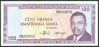 BURUNDI  -  100   FRANCS   1993  -  P 29c  Uncirculated Banknotes