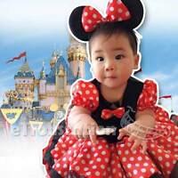 Minnie Mouse Baby Girls Toddler Costume Ballet Dress Leotard Tutu Ears Headband