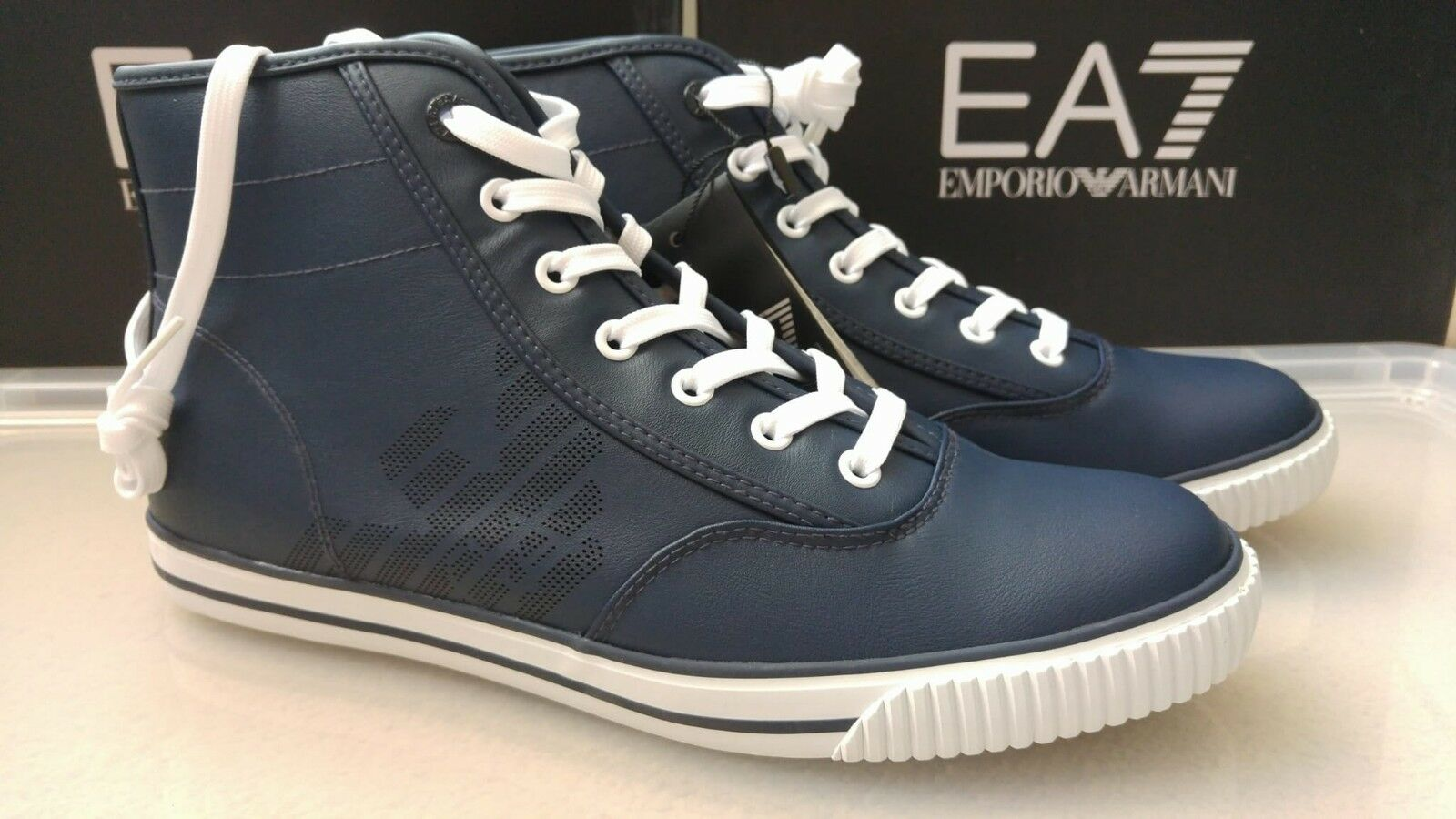 Emporio Armani EA7 herren Cult Vintage high-top trainers 9.5UK