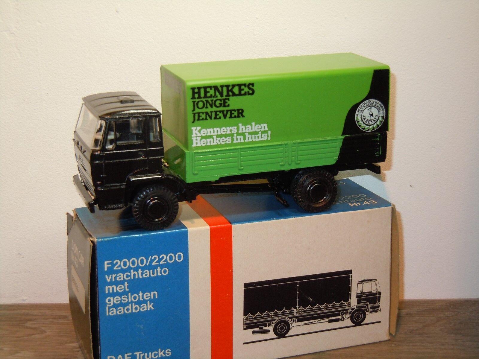 Daf F2000   2200 Henkes Jonge Jenever - Lion Coche 43 Holland 1 50 in Box 34974