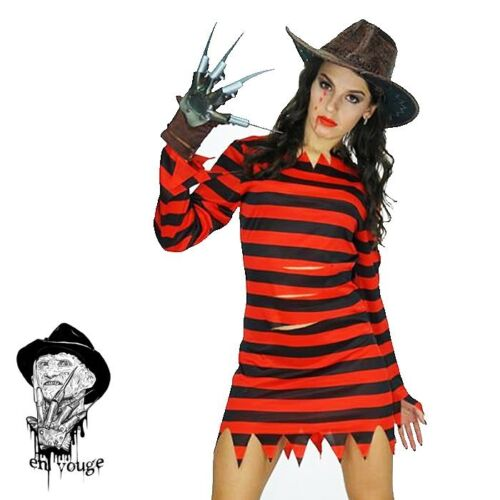Freddy Krueger Mens Womens Fancy Dress Halloween Horror Costume Adults Outfit