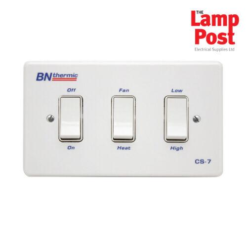 BN Thermic CS-7 - Three Gang Control Switch Fan Heaters Control