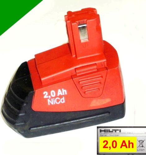2 Ah NiCd  2000 mAh Original Hilti Akku SFB 121-12 V