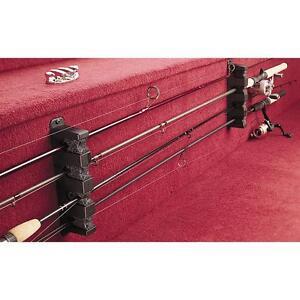 Fishing 4 rod rack horizontal boat mount holder pole rods for Horizontal fishing rod holders