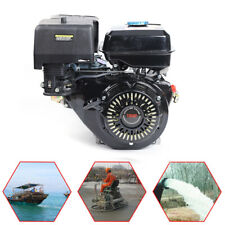 4 Stroke 15hp Ohv Horizontal Shaft Gas Engine Manual Recoil Start Air Cooling Us