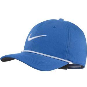 11f8e2afecd Mens Unisex Nike Golf Cap Hat Classic 99 Rope Blue White AR6320 465 ...