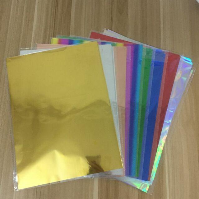 50Pcs A4 8x12 Gold Multi-Color Transfer Foil Paper Laser Printer Hot Laminator Red