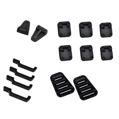 1:10 Türscharniergriffe aus schwarzem Kunststoff /& Motorabdeckung aus