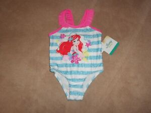 NWT DISNEY THE LITTLE MERMAID ARIEL ONE PIECE SWIMSUIT 24 MONTHS OR 3T