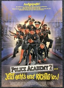 Police-Academy-2-Guttenberg-Bubba-Smith-A1-Film-Poster-Affiche-M-8073