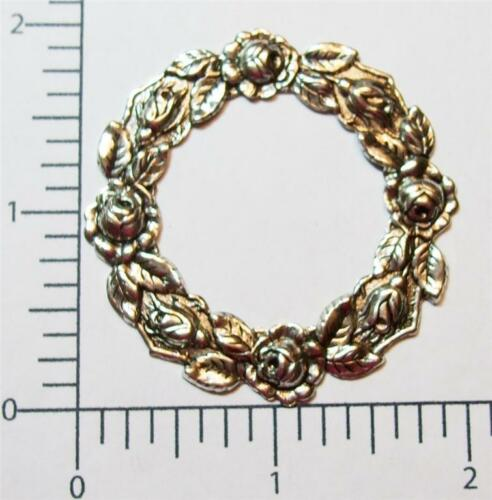 21014          Matte Silver Oxidized Victorian Floral Frame Jewelry Finding