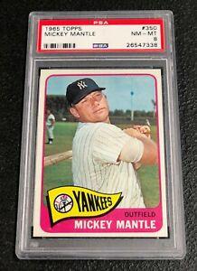 New-York-Yankees-Mickey-Mantle-1965-Topps-350-PSA-8-Near-Mint-Mint