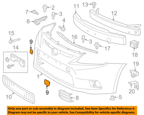 Scion TOYOTA OEM 11-13 tC Bumper-Foglight or Tow Hook Cover Cap Right 5212721902
