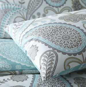 pieridae paisley duvet cover pillowcase bed set single double king super teal ebay. Black Bedroom Furniture Sets. Home Design Ideas