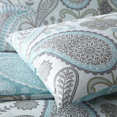 Pieridae Paisley Duvet Cover & Pillowcase Bed Set Single Double King Super Teal