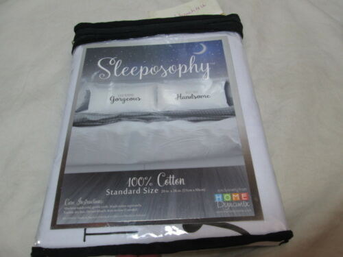 Sleeposophy GORGEOUS HANDSOME T2 Coordinating Standard Pillowcases ~ Black White