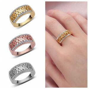 Size5 11 Sterling Ring Grandma Letter Diamond Rings Family Birthday