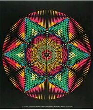 VINTAGE BLACKLIGHT POSTER 1968 PARKER PSYCHEDELIC GEOMETRIC STAR MANDALA LOT #3
