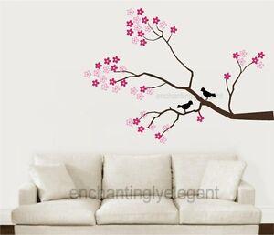 Tree Branch Wall Decor tree branch cherry blossoms birds vinyl wall decor decal sticker