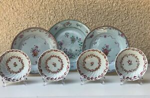 Lot-7-Dishes-Famille-Rose-Porcelain-Qianlong-1736-1795-China-Qing-Dynasty