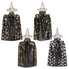 Children Kids Girl Halloween Cloak Witch Dress Fancy Dress Cosplay Party Costume