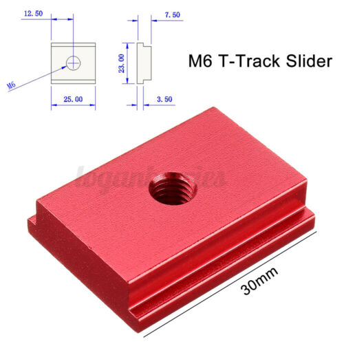 100-600mm Aluminium T-Track T-Slot Miter Jig DIY Table Woodworking Router Tool