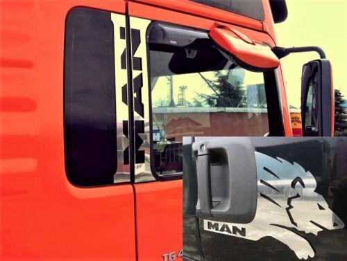 6 Stk Türgriffblenden für Man TGA Tgx Edelstahl Poliert Tür Sockel