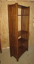 Signed Stickley Book Shelf Solid Oak Arts and Crafts Antique Style Bookcase