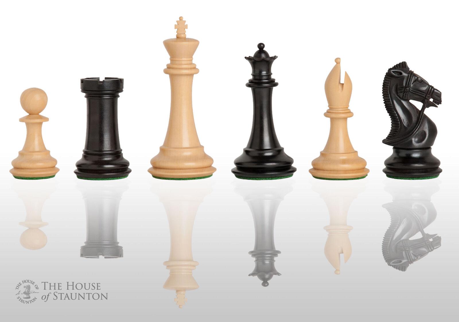 Les Leicester Chess Set-pièces seuleHommest - 4.0  King-ebonized Buis   magasin pas cher