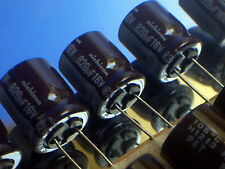 820uF 16V 105C Electrolytic Capacitors 12.5x15mm Low Profile - 10pcs