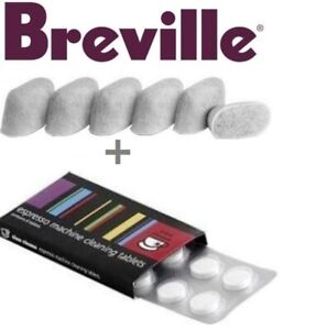 BREVILLE-Espresso-Accessories-1-x-8-Cino-Cleano-Tablets-amp-1-x-6-Water-Filters