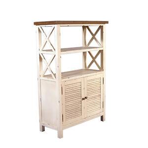standregal loire schrankfach holz landhaus stil vintage look regal creme neu ebay. Black Bedroom Furniture Sets. Home Design Ideas