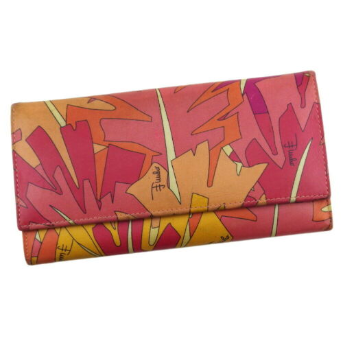 EMILIO PUCCI Purse Pucci (handle) Pink orange leat